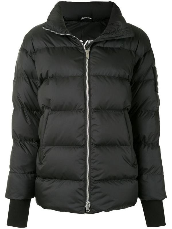 Moose Knuckles zip-up padded jacket in black