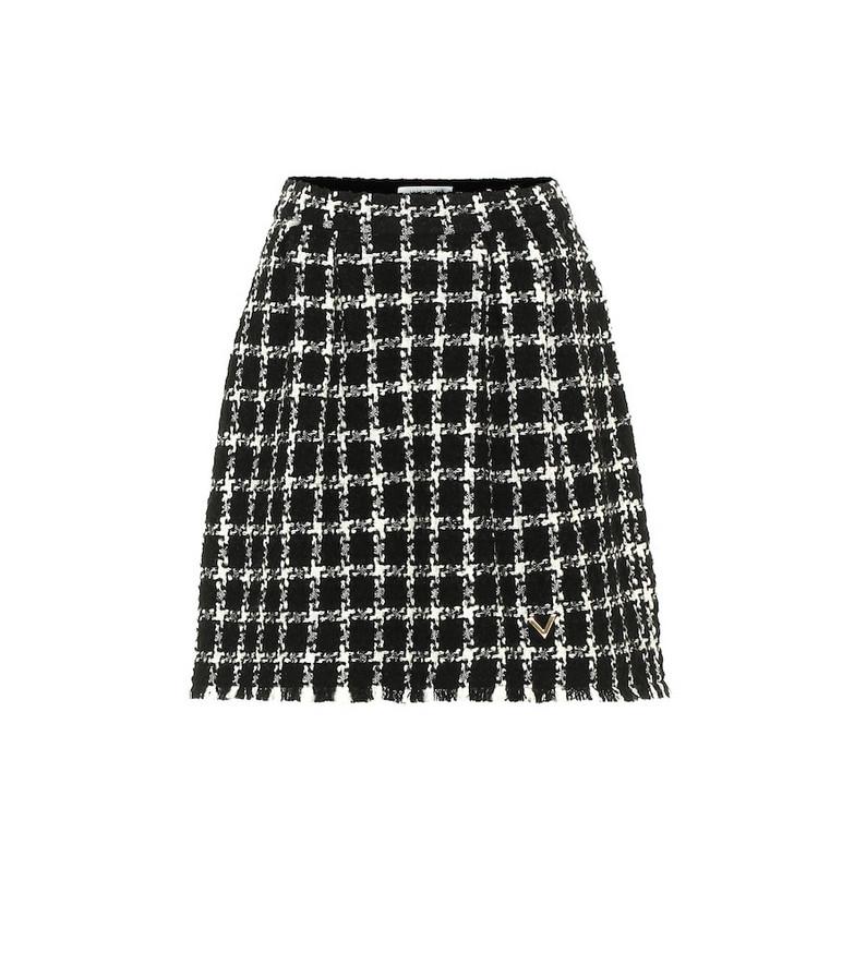 Valentino Tweed wool-blend miniskirt in black