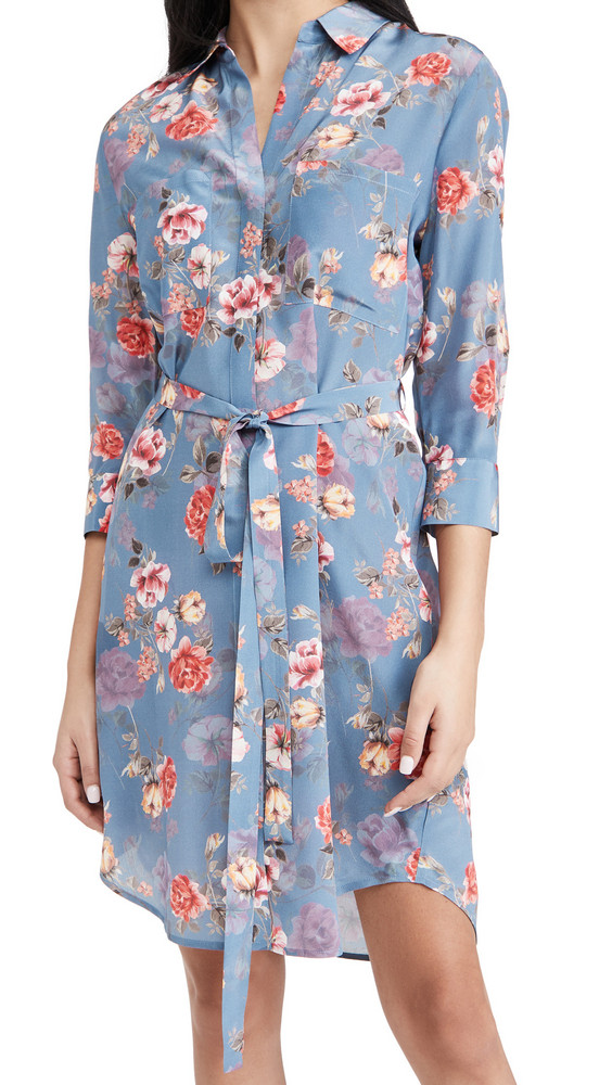 L'AGENCE Stella Short Shirtdress in rose
