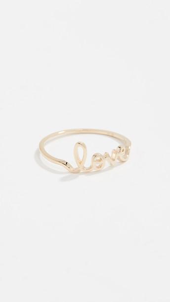Sydney Evan Love Ring in gold / yellow
