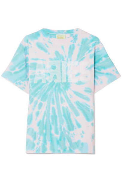 Aries - Go Your Own Way Printed Tie-dyed Cotton-jersey T-shirt - Pastel pink