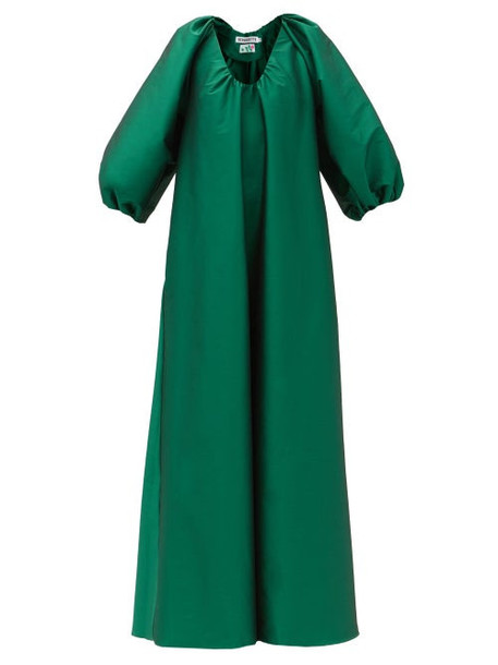 Bernadette - George Balloon-sleeve Taffeta Dress - Womens - Green
