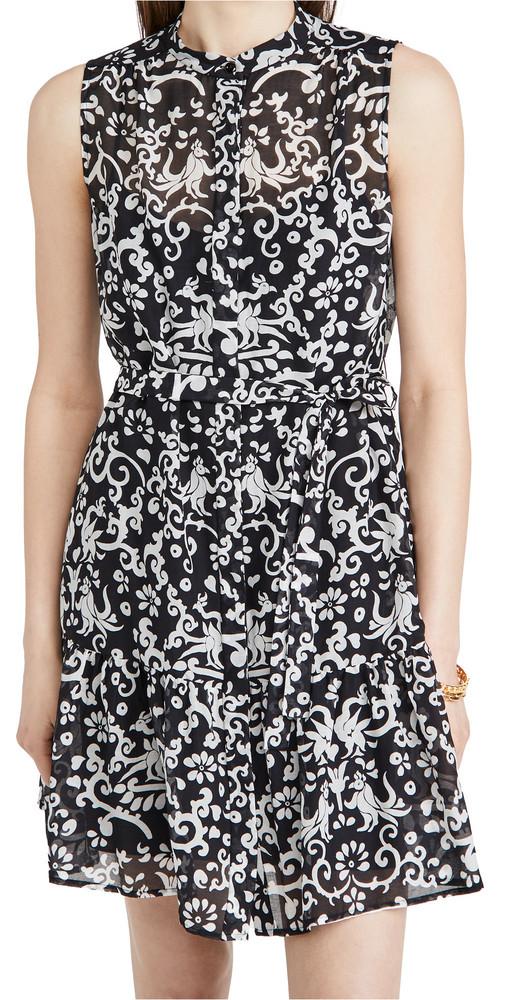 Saloni Tilly Dress in noir