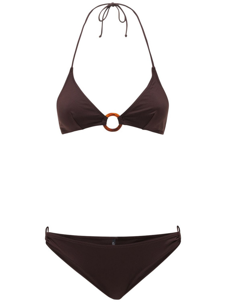 LAURA URBINATI Eva Bikini Set in brown
