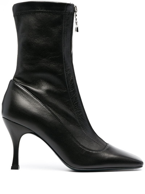 Patrizia Pepe square-toe ankle boots in black