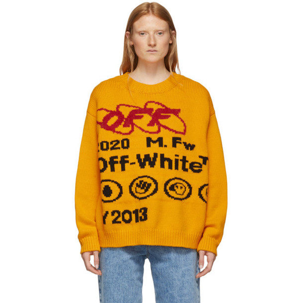Off-White Yellow and Black Industrial Y013 Sweater