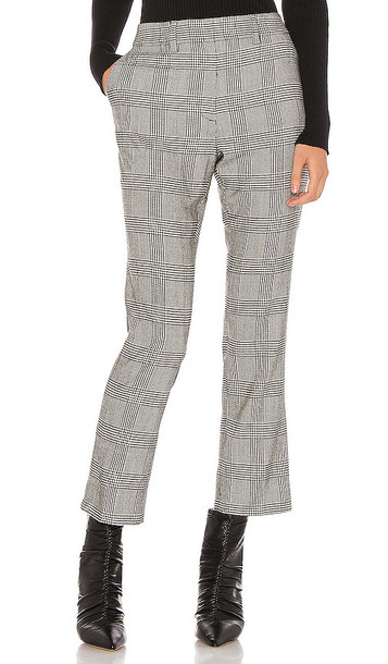 FRAME Cropped Perfect Trouser in Gray