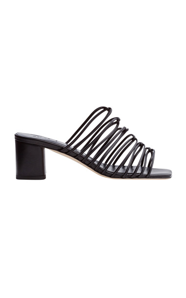 Aeyde Pearl Leather Sandals in black