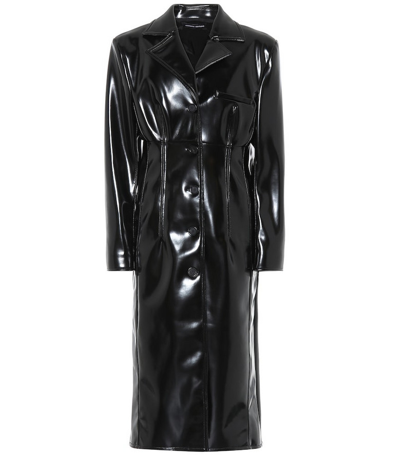 Kwaidan Editions Faux leather coat in black