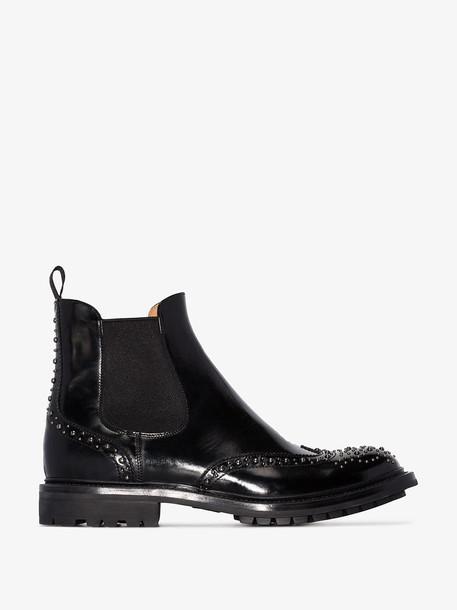 Church's Black Aura Studded Leather Chelsea Boots