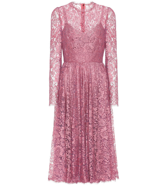 Dolce & Gabbana Lace dress in pink