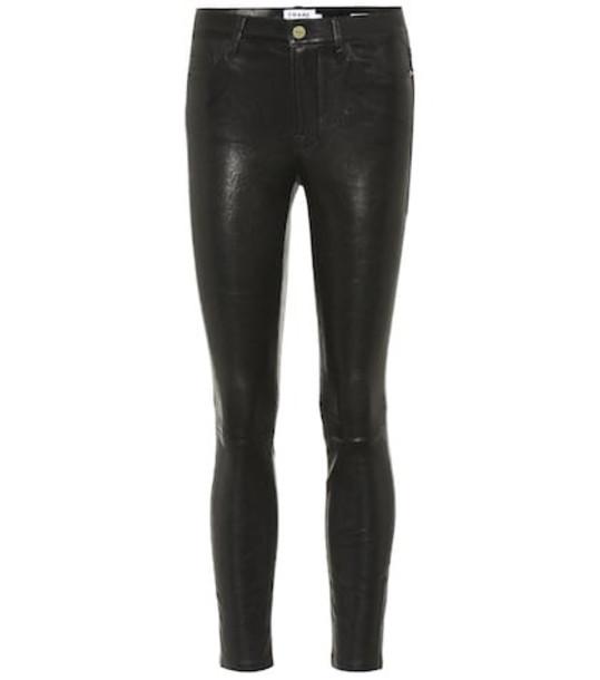 Frame Le Skinny de Jeanne leather pants in black