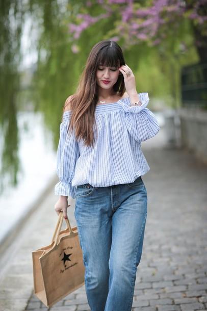meet me in paree blogger top jeans bag shoes