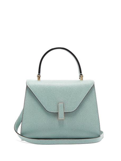 Valextra - Iside Mini Grained Leather Bag - Womens - Light Blue