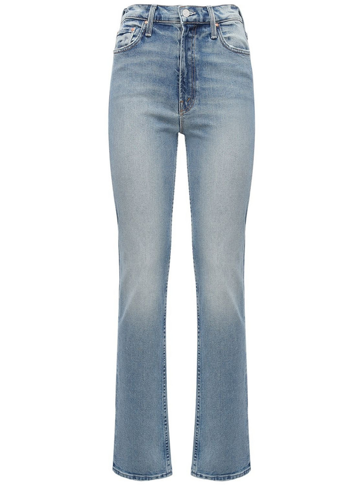 MOTHER The Rider Straight Cotton Denim Jeans in blue