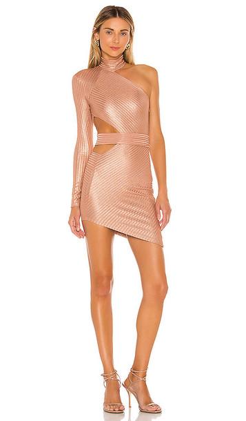 Michael Costello x REVOLVE Selia Mini Dress in Mauve in metallic / rose