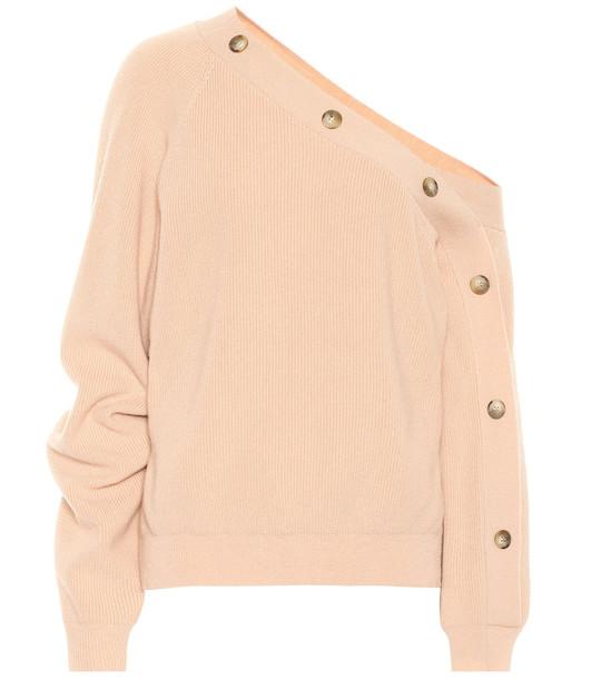Nanushka Camerin merino wool-blend sweater in pink