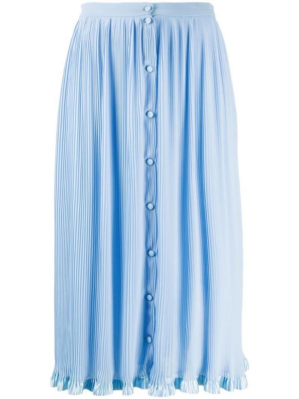 Marco De Vincenzo micro-pleat midi skirt in blue