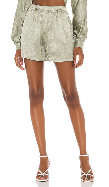 Lovers + Friends Lovers + Friends Lounge High Waisted Shorts in Sage in green