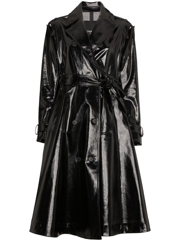 Calvin Klein 205W39nyc vinyl trench coat in black