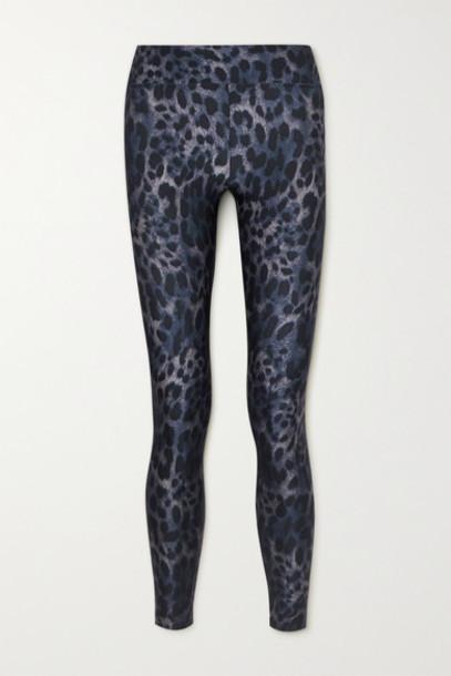 Koral - Drive Cheetara Leopard-print Stretch Leggings - Blue