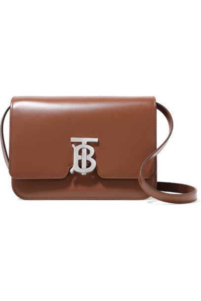 Burberry - Small Leather Shoulder Bag - Brown