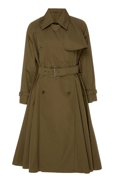 Max Mara Cotton-Gabardine Trench Coat in brown