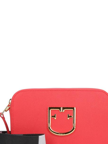 Furla Brava Mini Leather Shoulder Bag in red