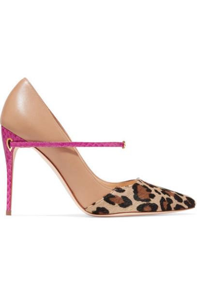 Jennifer Chamandi - Lorenzo Leopard-print Calf Hair And Leather Pumps - Leopard print