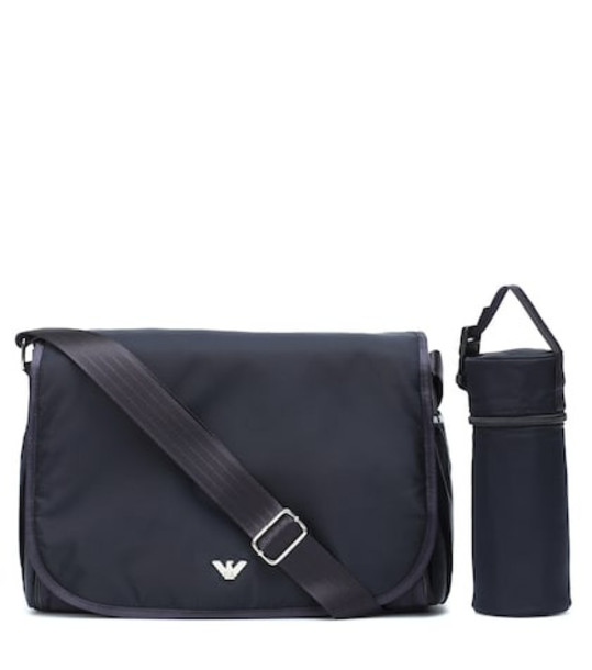 Emporio Armani Kids Changing bag with mat and pouch in blue