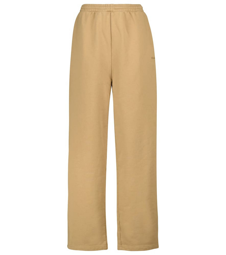 Balenciaga Cotton jersey sweatpants in beige