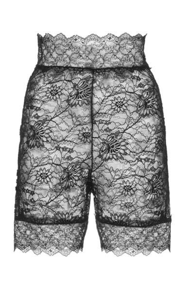 Dundas Stretch Lace Bike Shorts in black