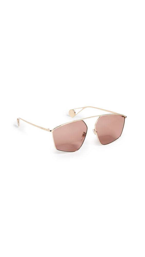 Gucci Evolution Sunglasses in gold / red