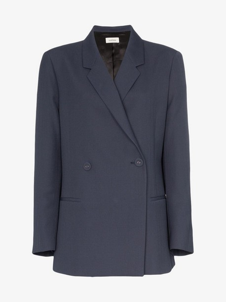 Toteme relaxed fit double-breasted blazer in blue