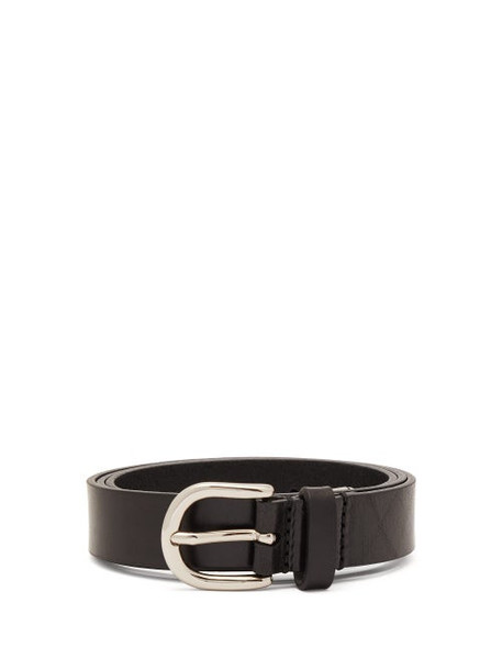 Isabel Marant - Ziuna Metal Trim Leather Belt - Womens - Black