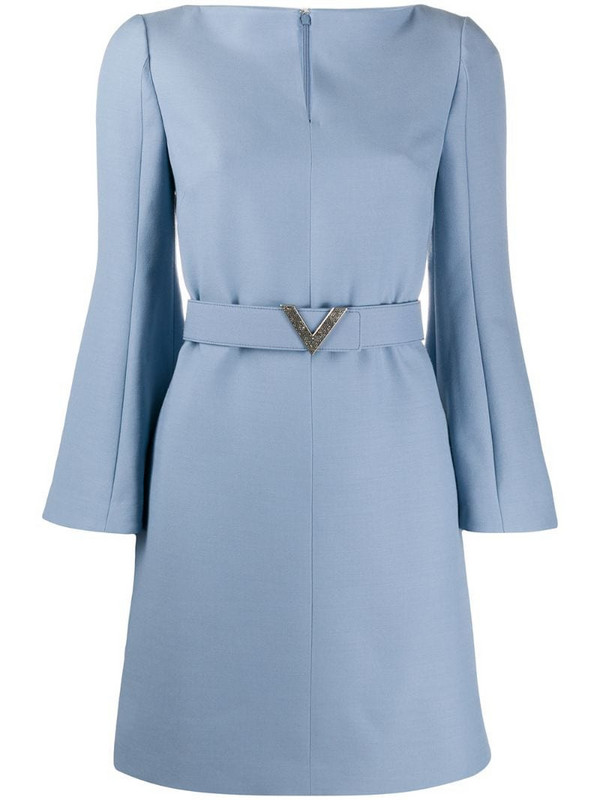 Valentino V belted dress in blue