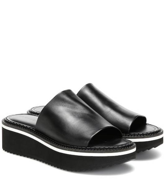Clergerie Fast leather platform sandals in black