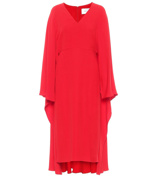 Valentino Silk midi dress in red
