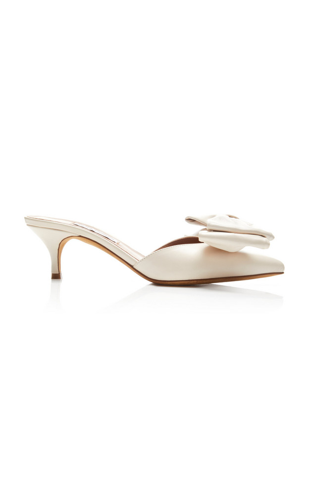 Tabitha Simmons Edyth Leather Mules in white
