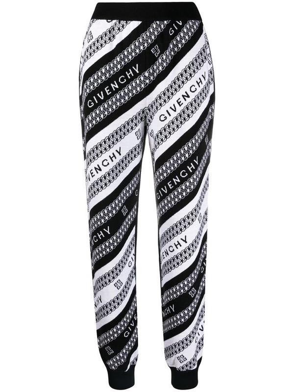 Givenchy intarsia-knit logo trousers in black