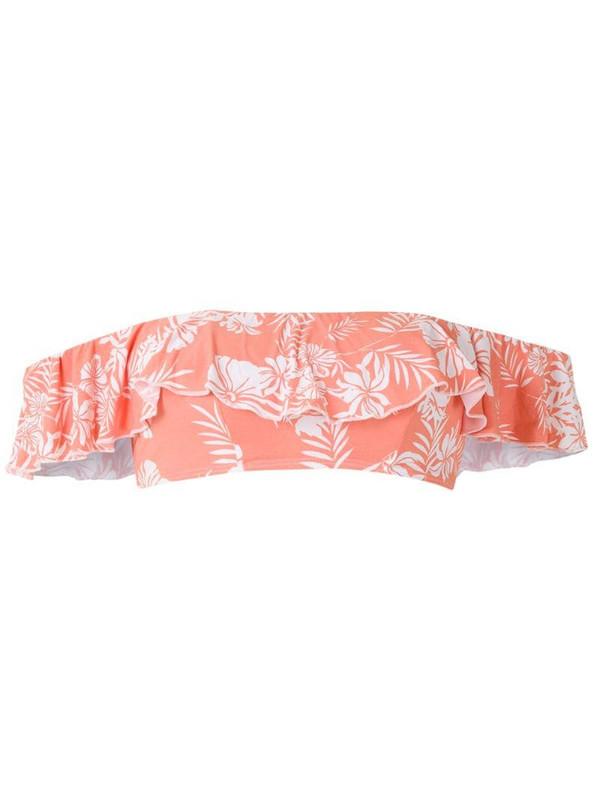 Track & Field Gipsy printed bikini top in pink