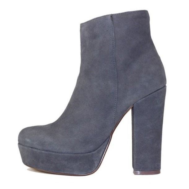 shoes platform shoes grey suede boots heels