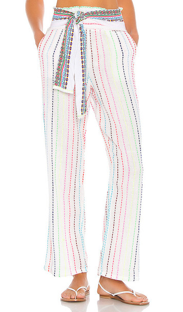 Pitusa High Rise Comfy Pant in White