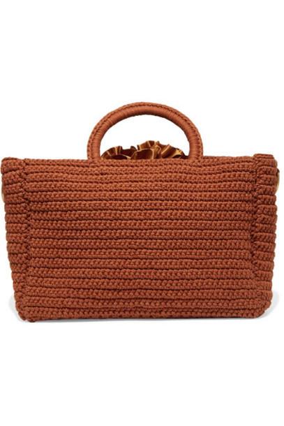 Mizele - Muzelle Crocheted Cotton Tote - Brown