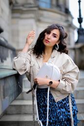 samieze,blogger,skirt,jacket,shoes,bag,sunglasses
