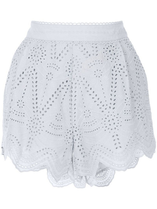 We Are Kindred Lola embroidered shorts in blue