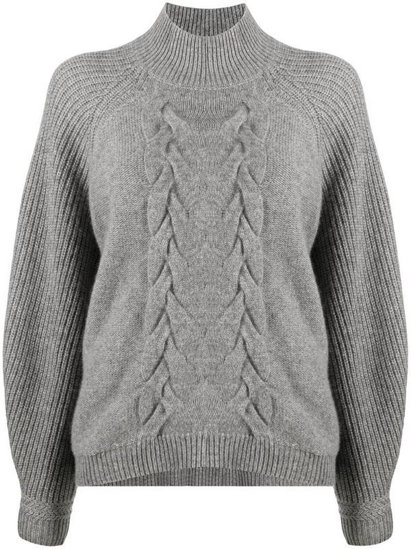 Steffen Schraut cable-knit mock-neck jumper in grey