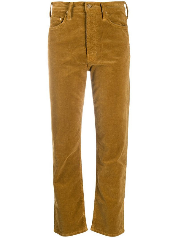 Mother The Tomcat cropped jeans in brown