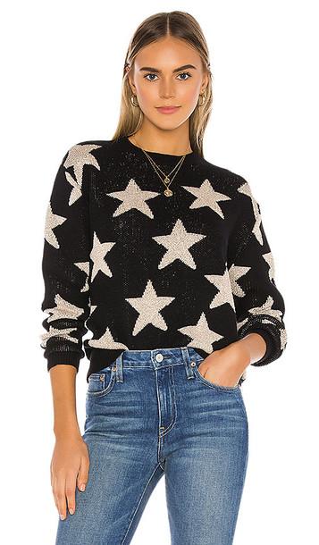 superdown Rosabel Crew Neck Sweater in Black,Metallic Neutral