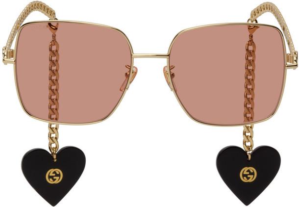 Gucci Gold Chain Square Sunglasses